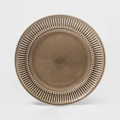 "10.6"" Stoneware Breman Embossed Dinner Plate Taupe - Threshold™"