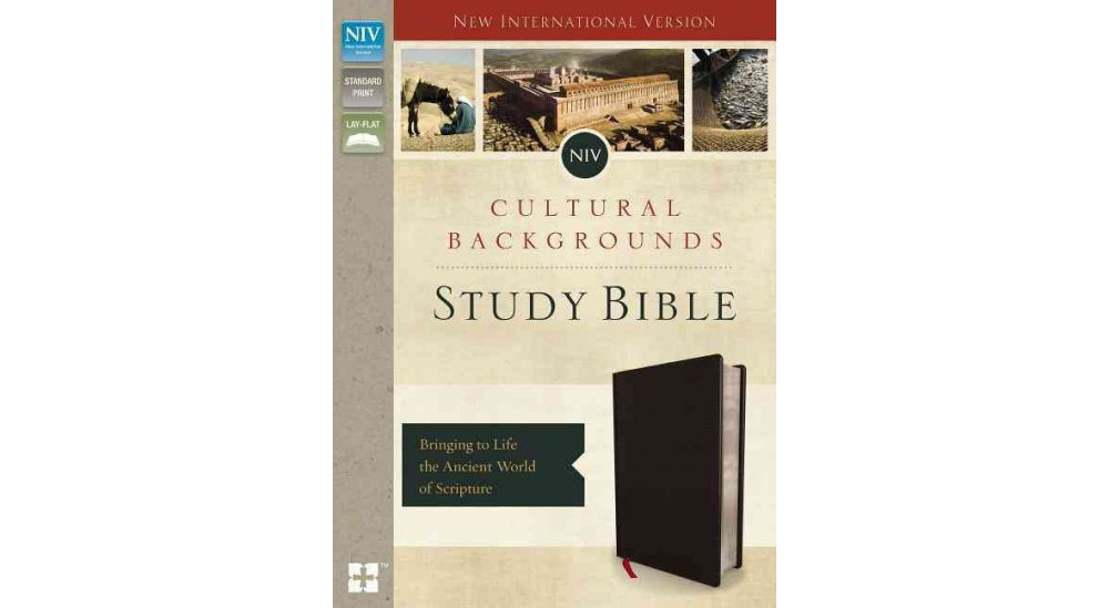 NIV Cultural Backgrounds Study Bible : New International Version, Black, Bonded Leather: Bringing to