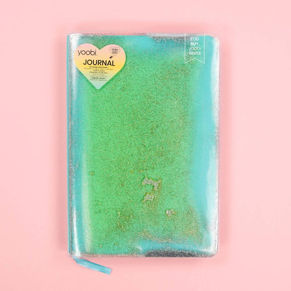 Yoobi 8482 College Ruled Journal 8 34 X5 5 34 Fine Sand Neon