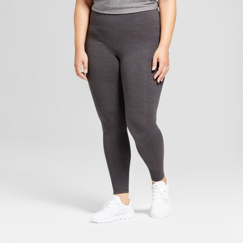 ec5f628ab770e5 Women's Plus-Size Cotton Spandex Leggings - C9 Champion® - Dark Gray  Heather 2X