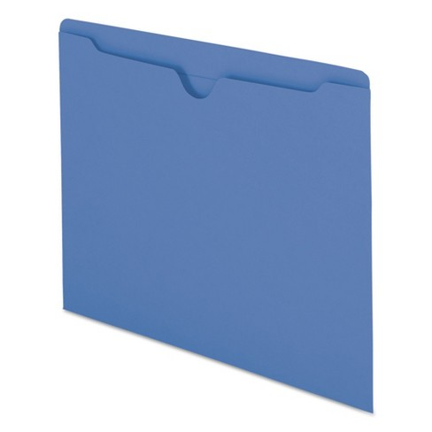 Smead® File Jackets, Reinforced Double-Ply Tab, Letter, 11 Point Stock, Blue, 100/Box - image 1 of 6