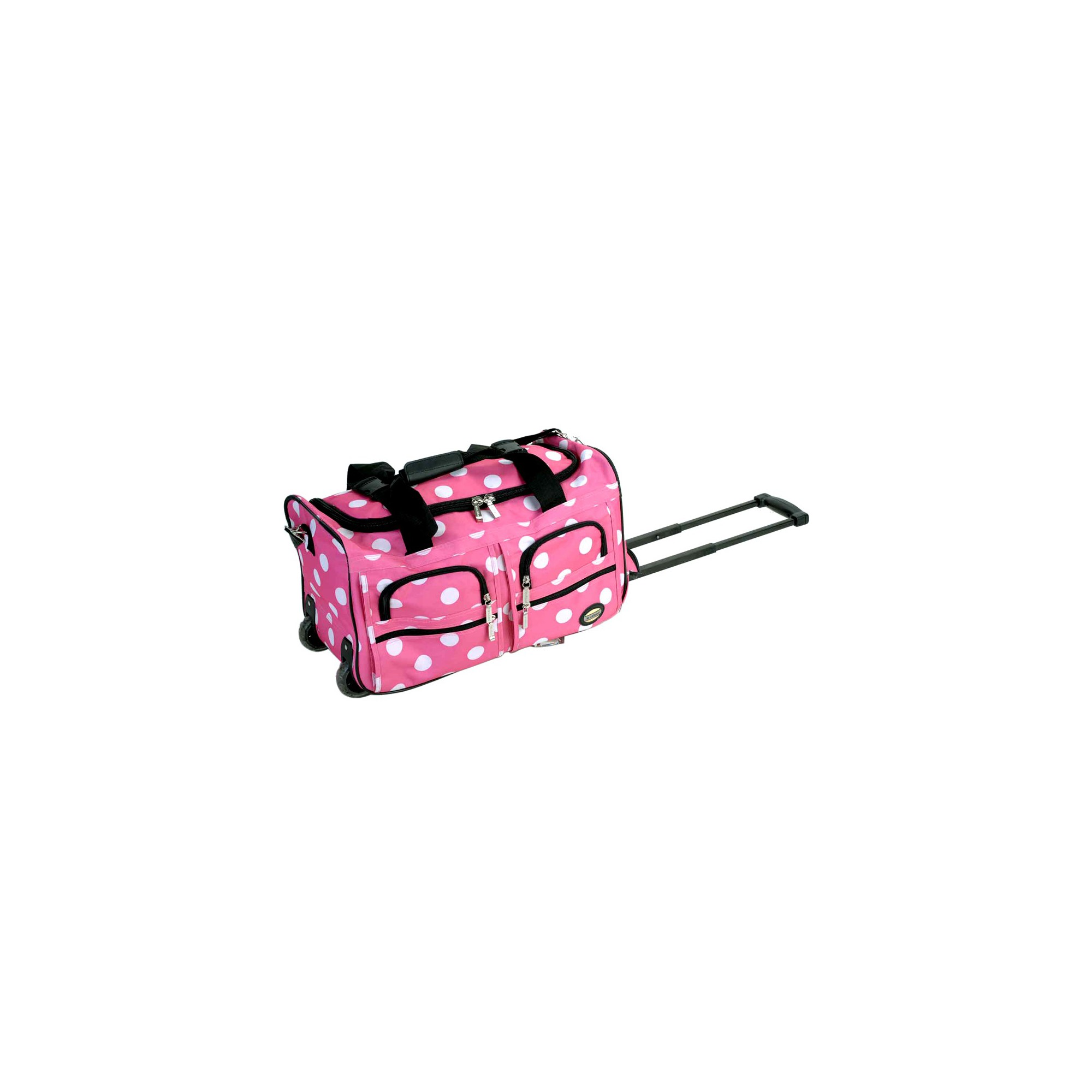 'Rockland 22'' Rolling Duffel Bag - Pink Dot, Girl's'