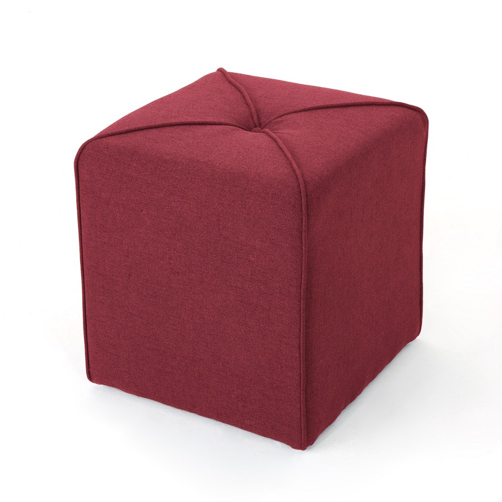 Kenyon Square Ottoman Deep Red - Christopher Knight Home