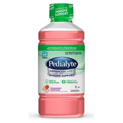 Pedialyte AdvancedCare Electrolyte Solution - Strawberry Lemonade - 33.8 fl oz