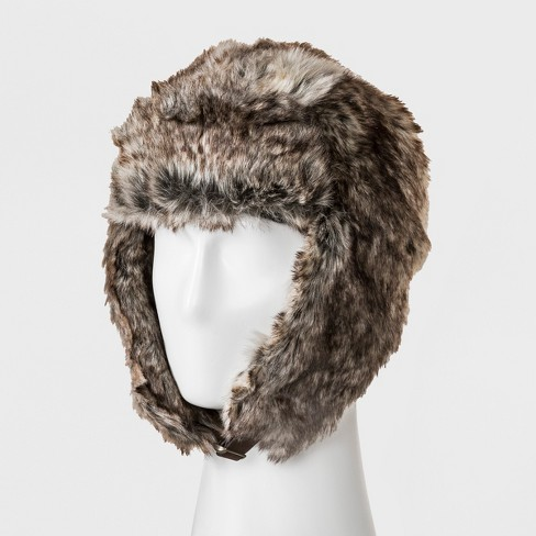 0a43741992b Men s Faux Fur Trapper Hat - Goodfellow   Co™ Brown One Size   Target