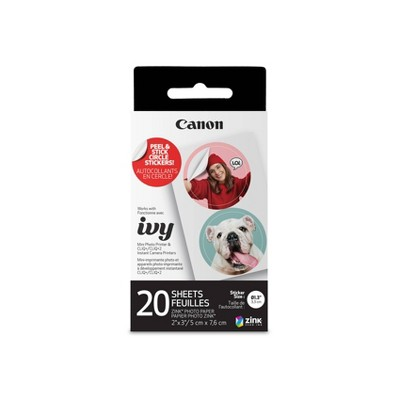 Canon ZINK Pre-Cut Circle Sticker Paper Pack (20 Sheets)