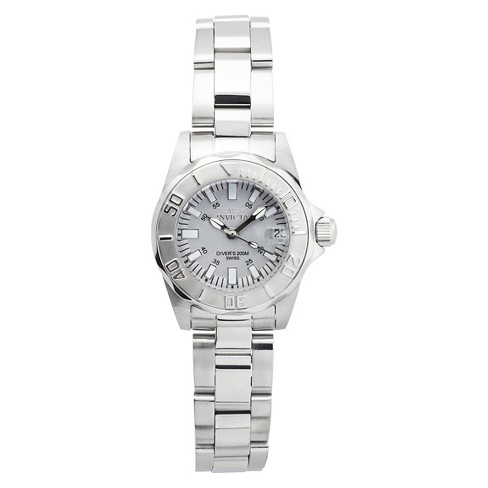 Women's Invicta 7064 Signature Stainless Steel Link Watch - Silver - image 1 of 3