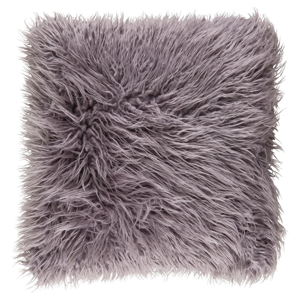Gray Norah Knitted Throw Pillow (22x22