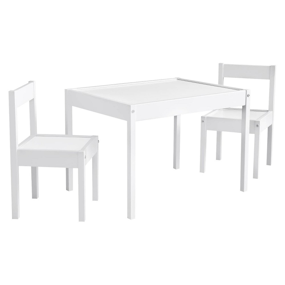 Image of 3pc Tahoe Kiddy Table And Chair Set White - Baby Relax