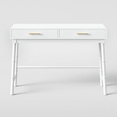 Oslari Wood Writing Desk with Drawers White - Opalhouse™