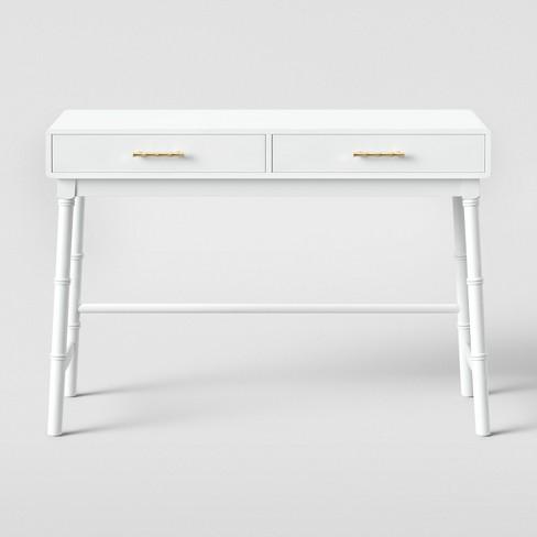 Oslari Wood Writing Desk with Drawers White - Opalhouse™ - image 1 of 4