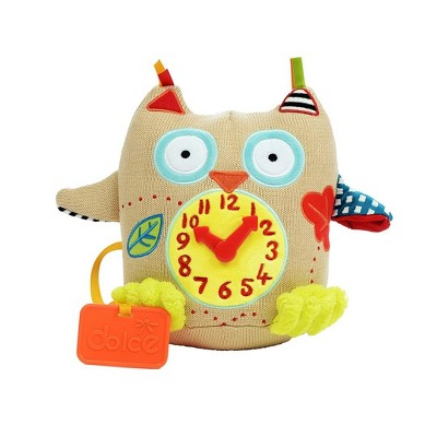 Dolce My First Owl Clock Stuffed Animal And Plush Toy