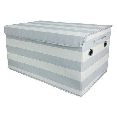 Toy Storage Bin Gray White - Pillowfort™