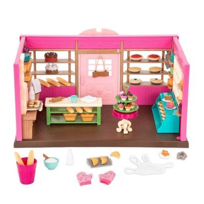 Li'l Woodzeez Store Playset with Toy Food 69pc - Tickle-Your-Taste-Buds Bakery