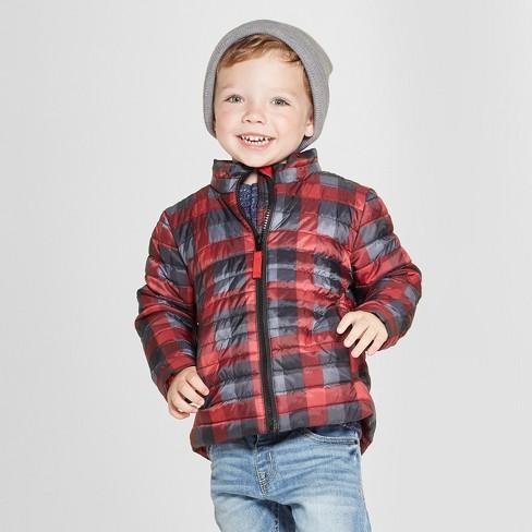 d8341f82ef5b Toddler Boys  Print Midweight Puffer Jacket - Cat   Jack™ Black   Target