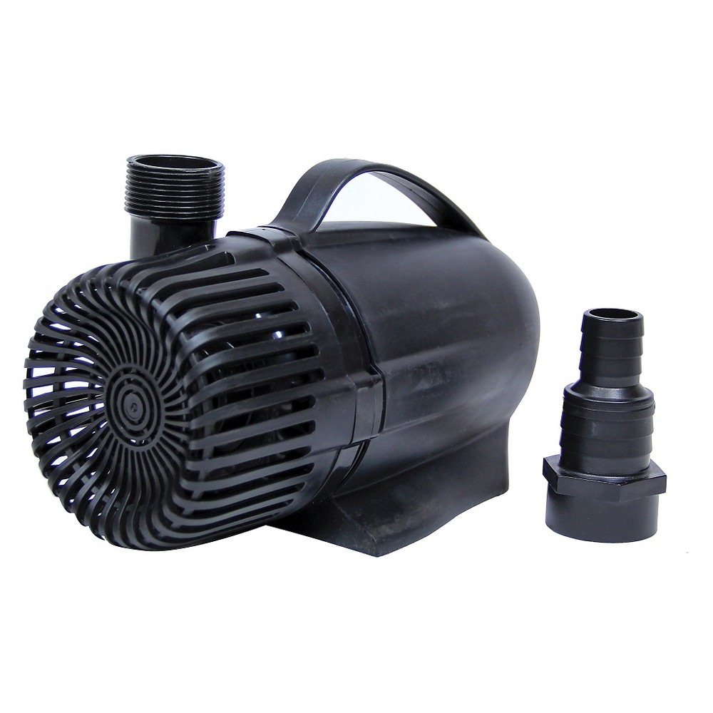 6 Pond Boss 1250 Gph Waterfall Pump, Black