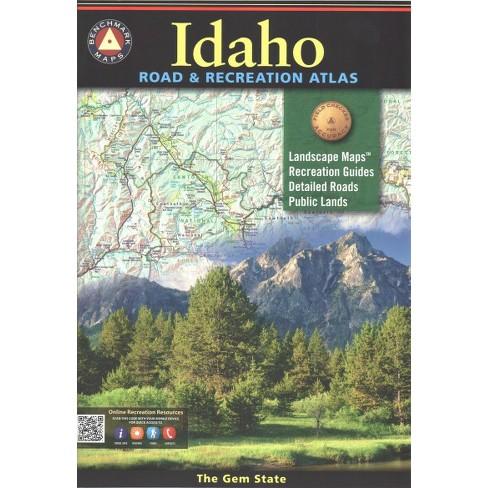 Benchmark Maps Idaho Road Recreation Atlas Paperback Target