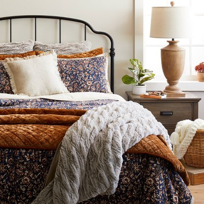 Blue Floral Traditional Fall Bedding Collection - Threshold™