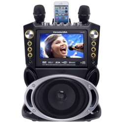 "Karaoke USA Complete Bluetooth Karaoke System with 7"" Color Screen (GF844)"