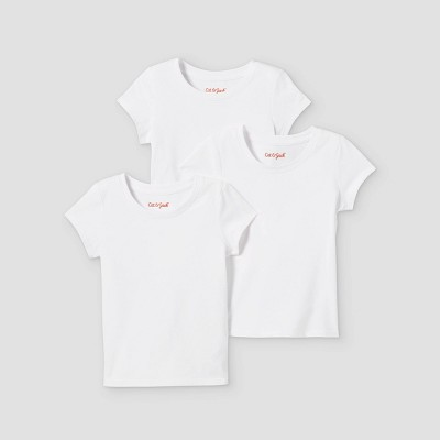 Toddler Girls' 3pk Solid Short Sleeve T-Shirt - Cat & Jack™ White