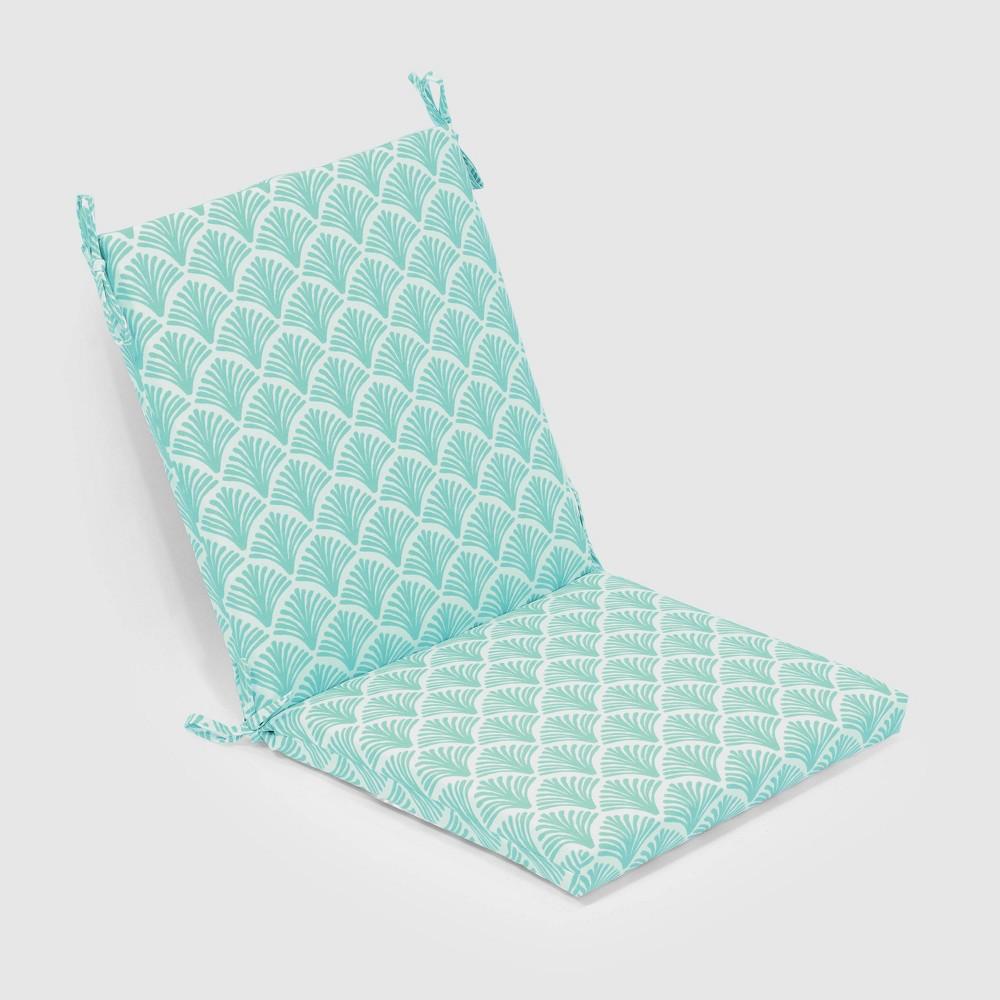 Fan Outdoor Chair Cushion Aqua (Blue) - Threshold