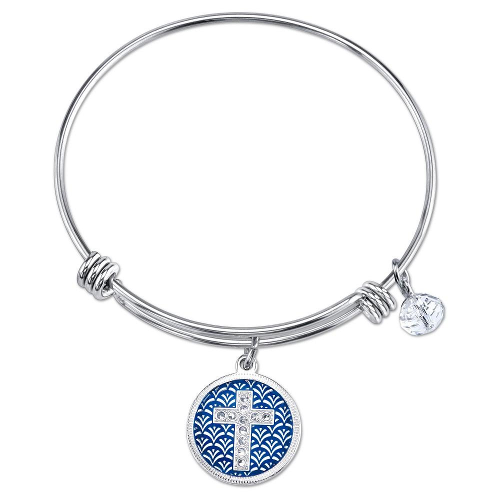 Target Women's Stainless Steel Faith Cross Enamel expanda...