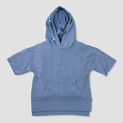 Toddler Boys' Afton Street Dreamer Short Sleeve Hoodie Sweatshirt - Blue 12M