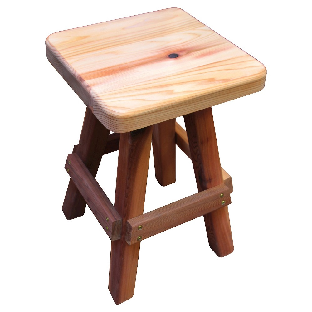 Image of Finished Wood Garden Stool - Wood - Gronomics, Brown