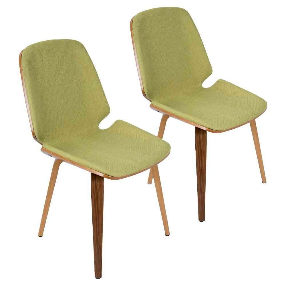 Serena Mid Century Modern Dining Chair (Set of 2) - Green - LumiSource