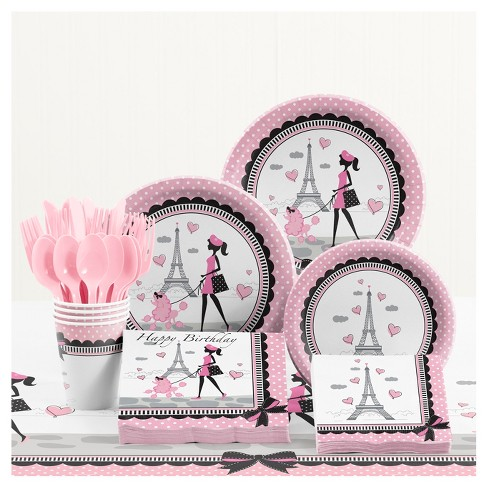 Party in Paris Birthday Party Supplies Kit - image 1 of 4