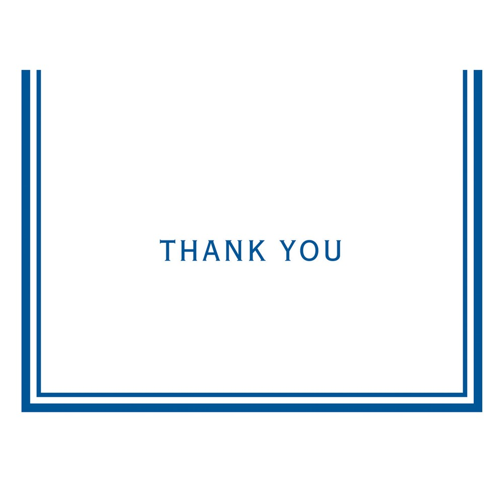 Image of 50ct Blue Bordered Thank You Cards