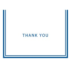 50ct Solid Thank You Note Cards Target