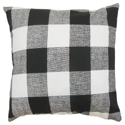 """Black Buffalo Check Throw Pillow (18""""x18"""") - The Pillow Collection"""