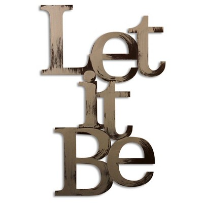 Letter2Word Let it Be 3D Wall Sculpture - Gold