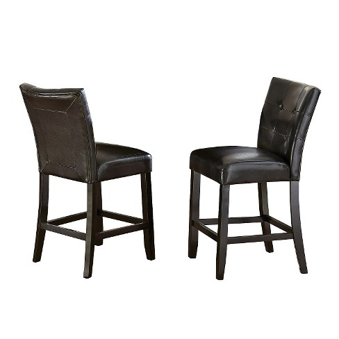"Graham 24"" Counter Chair Hardwood/Chocolate (Set of 2) - Steve Silver Co. - image 1 of 2"