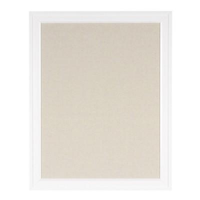 "24"" x 30"" Bosc Framed Linen Fabric Pinboard White - DesignOvation"