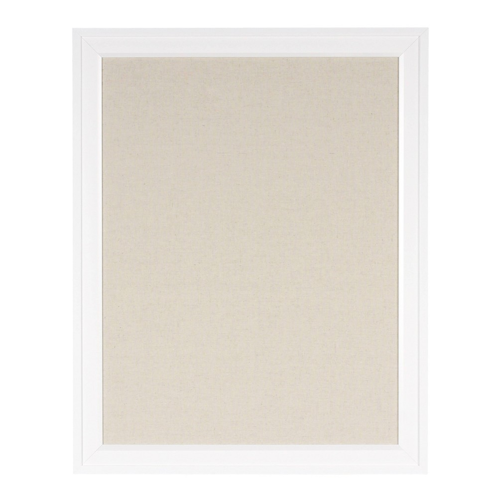 "Image of ""20"""" x 26"""" Bosc Fabric Pinboard White - DesignOvation"""