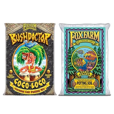 FoxFarm Bush Doctor Coco Loco & Ocean Forest Plant Garden Potting Soil Mix