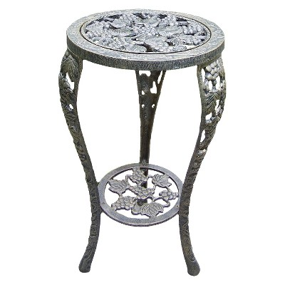 Grape Table Plant Stand - Antique Bronze