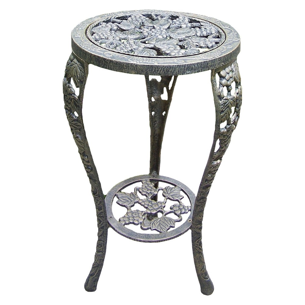 Image of Grape Table Plant Stand - Antique Bronze