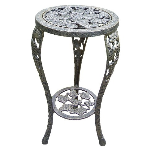 Grape Table Plant Stand - Antique Bronze - image 1 of 1