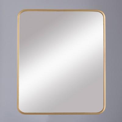 24 x20  Decorative Rectangular Wall Mirror Brass - Project 62™
