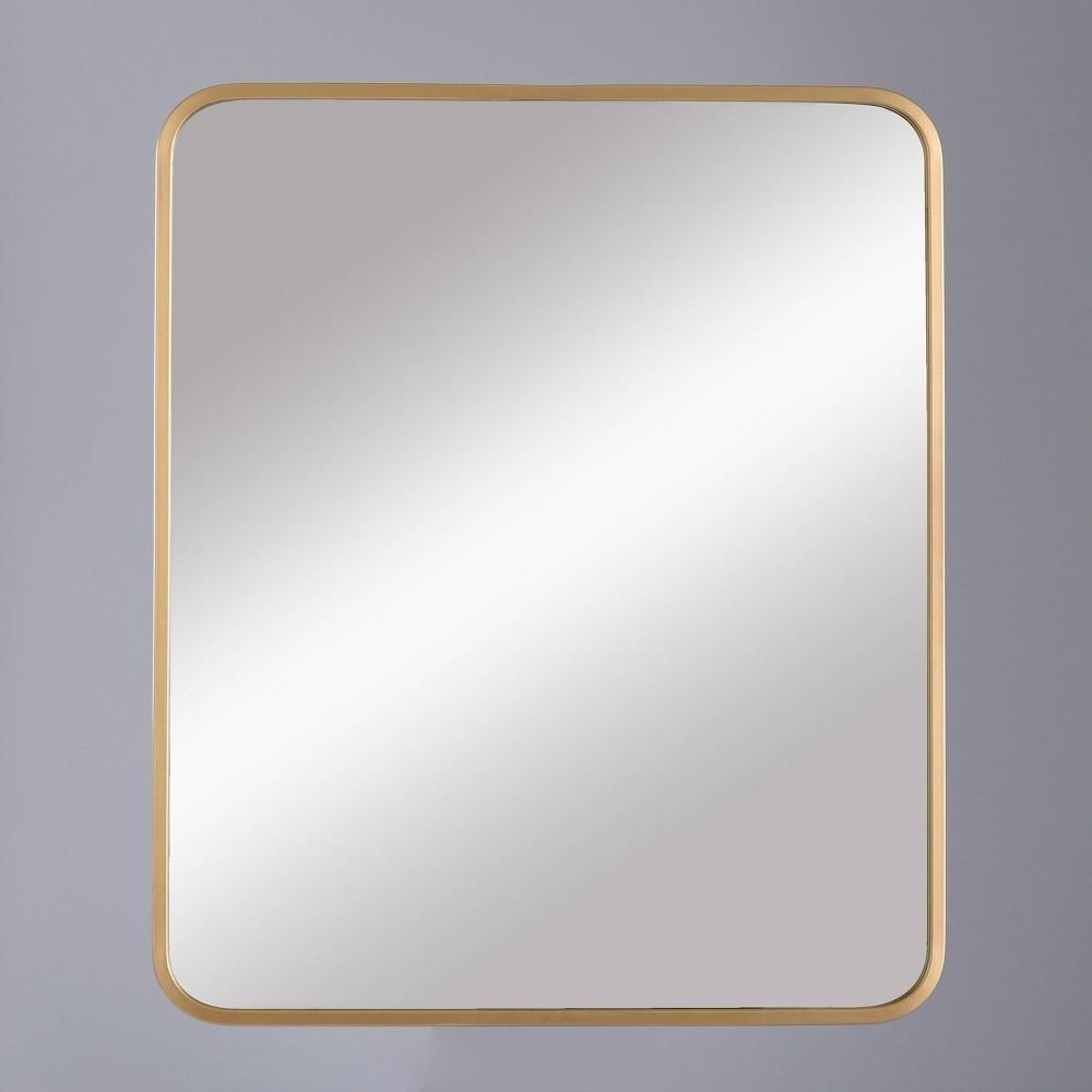 "Image of ""24""""x20"""" Decorative Rectangular Wall Mirror Brass - Project 62"""