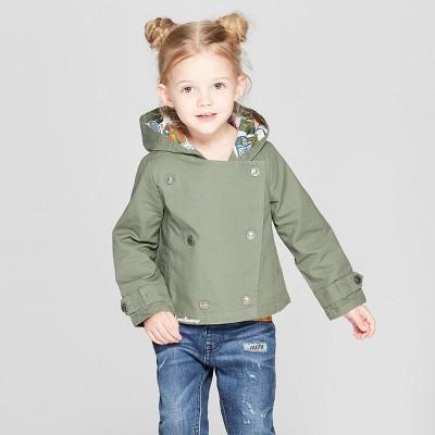 Toddler Girls' Anorak Jacket - Genuine Kids® from OshKosh Dark Green 12M