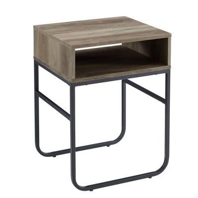 """18"""" Curved Metal Leg Side Table - Saracina Home"""