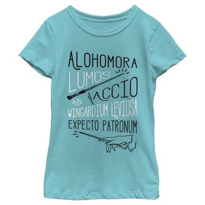 Girl's Harry Potter List of Spells T-Shirt