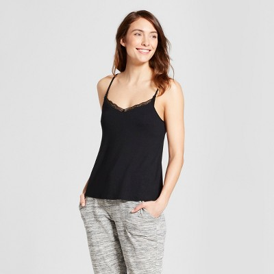 Women's Nursing Cami with Lace - Gilligan & O'Malley™ Black M