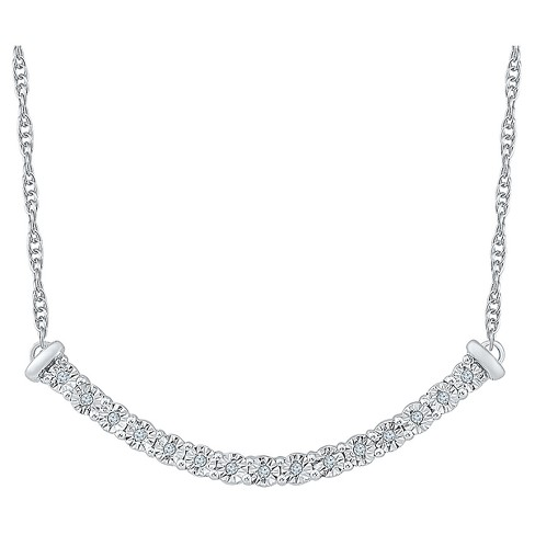 Diamond Accent Round White Diamond Fashion Necklace in Sterling Silver (I-J,I2-I3) - image 1 of 1