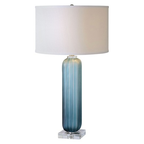 Caudina Frosted Blue Glass Lamp - image 1 of 2