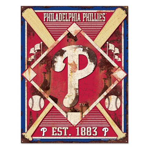 MLB Philadelphia Phillies Metal Sign - image 1 of 1